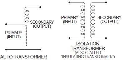 autotransformer vs isolation transformer, isolation transformer vs autotransformer